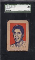 1952 Wheaties Hand Cut Phil Rizzuto HOF Yankees Portrait SGC Authentic