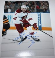 KEITH YANDLE SIGNED 8X10 PHOTO ARIZONA PHOENIX COYOTES COA