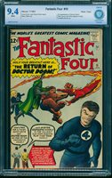Fantastic Four #10 CBCS NM 9.4 White Pages Massachusetts Comic Book