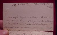 #7021 - 1864 E.S. Elliot Letter to wife from US Hospital