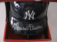 AUTOGRAPHED MARIANO DUNCAN NEW YORK YANKEES MINI HELMET