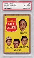 1962 Topps NL ERA Leaders #56 PSA 8