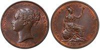 BRITAIN Victoria 1847 CU Penny PCGS MS63BN SCBC 3948.