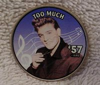 Elvis Colorized Kennedy Half Dollar Coin - Too Much