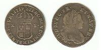 1/12 écu Navarre 1719H La Rochelle aEF