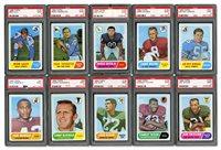1968 TOPPS FOOTBALL STARTER SET (83/219) - ALL GRADED PSA MINT 9