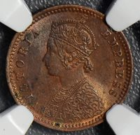 British India 1894 C 1/12 Anna NGC MS63RB calcutta mint NG0400 combine shipping