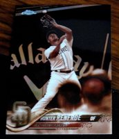 2018 TOPPS CHROME #184 HUNTER RENFROE PADRES SEPIA REFRACTOR NM-MT