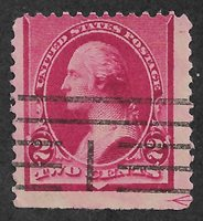 US # 220 (1890) 2c Used - VG EFO: Guide Line Arrow 1/400