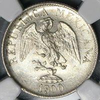 1900-Mo NGC MS 63 Mexico 20 Centavos Silver Coin (18082302C)