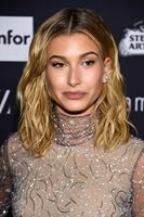 GLOSSY PHOTO PICTURE 8x10 Hailey Baldwin With Bright Shirt With Turtleneck