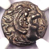 Alexander the Great III Celts AR Drachm Coin 3rd Century BC - NGC AU - Rare!