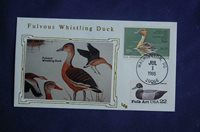 1986 Federal Duck Whistling Duck $7.50 Stamp FDC LEB Cachet Sc#RW53 08565