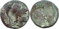 Bronze ca 3 -1 Jh v Thrakien, Makedonien, Pamphylien Kopf d Athene n r //auf Rv erscheint Av-bild negativ