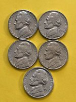 NICKEL 1970PD 1971PD 1972D FREE SHIPPING