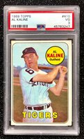 1969 Topps Al Kaline #410 Baseball Card Detroit Tigers PSA 3 VG
