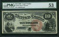 Fr No.103 $10 Legal Tender 1880 PMG 53