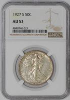 1927-S Walking Liberty Half 50c #941250-15 AU53 NGC