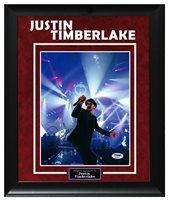Justin Timberlake Live Concert Dancing Autographed Custom Display Photo PSA AFTA