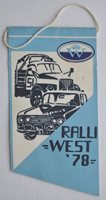 1978 USSR Russia WEST Rally Lorry Race Pennant