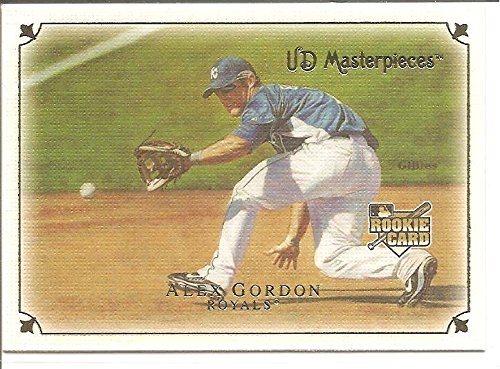 Alex Gordon Kansas City Royals 2007 Upper Deck Masterpieces Rookie Baseball Card 65