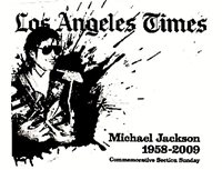 Michael Jackson Newspaper LA Times Promo Commemorative Tribute Hanger 2009 MJ