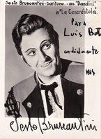 SESTO BRUSCATINI opera baritone signed photo in Cenerentola, 1967