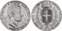Pièce Sardaigne 5 Lire Charles-Albert - Armoiries - 1848 P
