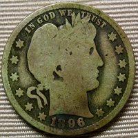 1896 - O Barber (1892-1916) Quarter