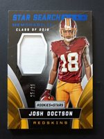 2016 Panini Rookies & Stars #37 JOSH DOCTSON STAR SEARCH JERSEY Blue 25/25