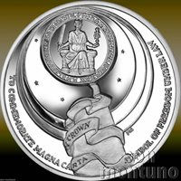 MAGNA CARTA SIGNING 800th Anniversary 2015 Ascension Island SILVER Coin BOX+COA