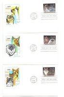 2372-75 Cats Farnam, HF, set of 4 single FDCs