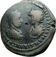 SEVERUS ALEXANDER JULIA MAMAEA Marcianopolis Ancient Roman Coin HOMONOIA i78926