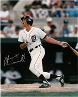 Alan Trammell Autographed Detroit Tigers 16x20 Photo #3 - Home Swinging