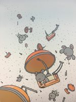 Untitled (Parachutes) - 2008 Mike Budai Poster Art Print