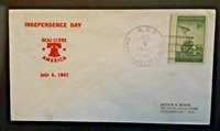 1947 USS Okanogan APA 220 To Jacksonville FL July 4 Illustrated Naval Cover