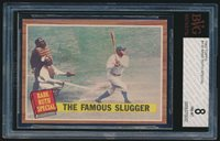 1962 Topps #138 Babe Ruth Special: The Famous Slugger BVG 8 NM-MT bgs