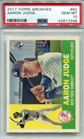 2017 Topps Archives #62 Aaron Judge PSA 10 *3346