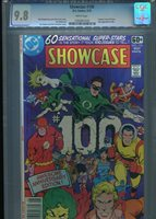 SHOWCASE #100 CGC MT 9.8 WHITE PAGES JOE STATON ART FEATURES EVERY DC HERO IN TI
