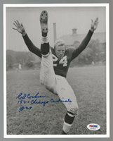 Red Cochran 1947 Chicago Cardinals Signed Auto 8x10 Photo PSA/DNA Certified
