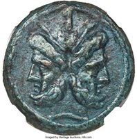 Anonymous. After 211 BC. AE aes grave as (36mm, 38.17 gm, 7h). NGC XF 5/5 - 3/5, smoothing....