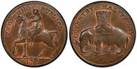 GR BRITAIN Warw. Coventry. 1792 CU Halfpenny Token. PCGS MS65BN. D&H-231