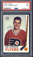 1969 Topps Hockey Gary Dornhoefer #94 PSA 7