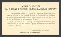 1944 PC CHICAGO & EASTERN ILL RR CO PROXY VOTING, UNPOSTED