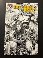 Broken Trinity #2 (2C cover) sketch cover edition Witchblade Darkness VF/NM