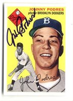 Johnny Podres Hand-Signed Card With Certificate Of Authenticity