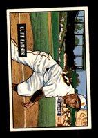 1951 Bowman #244 Cliff Fannin NM