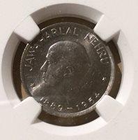 1964 (C) India 50 Paise NGC MS 64 - Jawaharlal Nehru