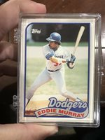 1989 Topps Traded Set Eddie Murray Lot Of 25 Set Break
