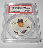 1962 Salada Baseball Coin Pin #36 Harmon Killebrew Minnesota Twins PSA 9 MINT